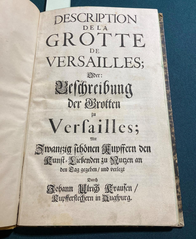 Felibian, Andre. Description de la Grotte de Versailles; Oder: Beschreibung der Grotten zu