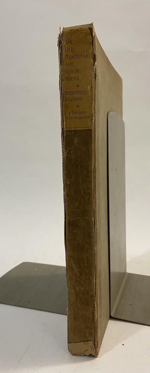 Sassoon, Siegfried. The Old Huntsman And other Poems, first English edition, inscribed on half