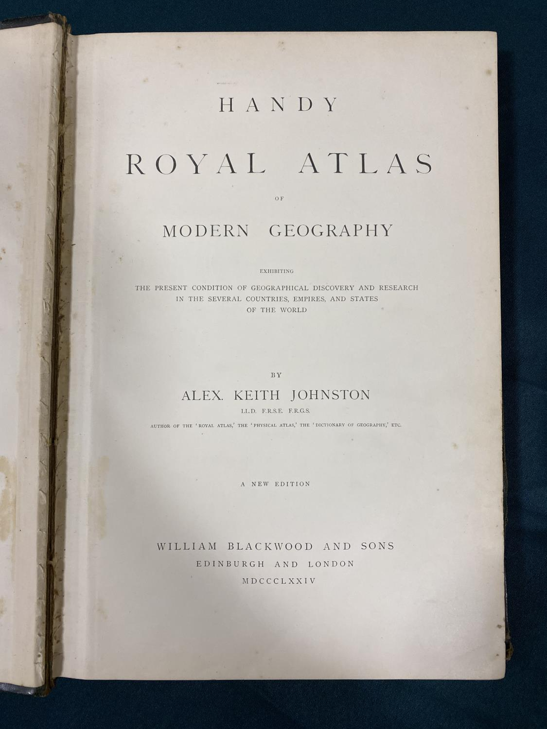 Johnston, Alexander Keith. Handy Royal Atlas of Modern Geography, new edition, 45 double-page maps - Image 2 of 3