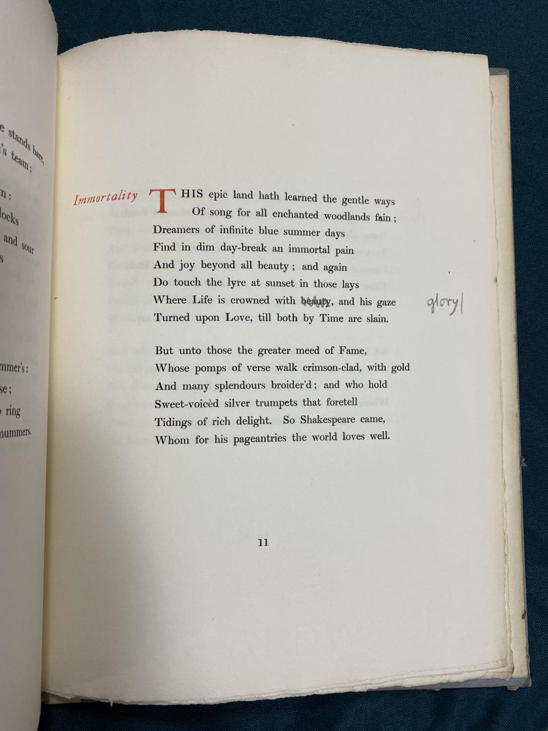 Sassoon, Siegfried. Sonnets, one of 50 copies, original cloth backed boards uncut, 4to, [No - Image 7 of 7