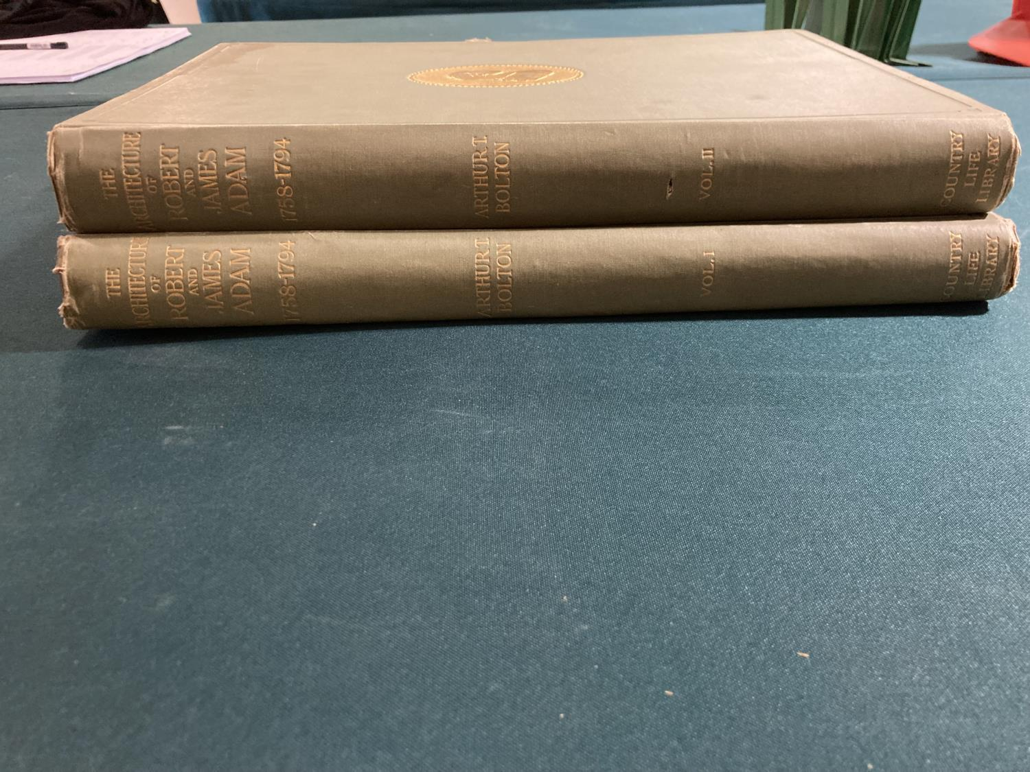 Bolton, Arthur T. The Architecture of Robert and James Adam, 2 volumes, first edition, plates, - Image 2 of 22