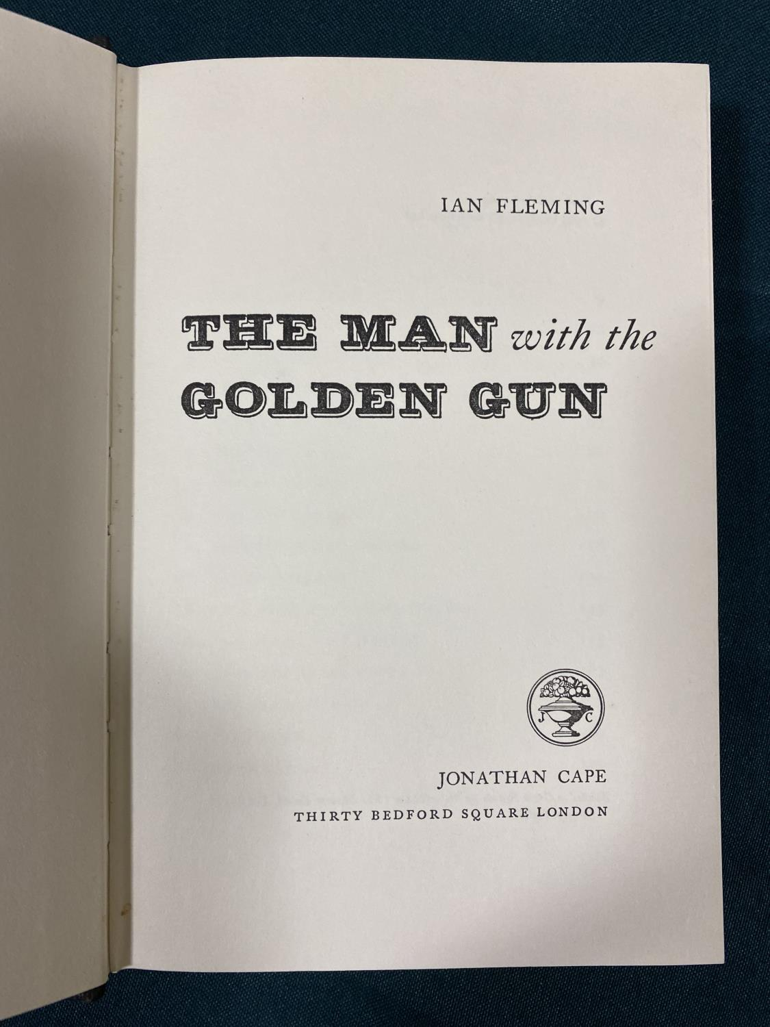 Fleming, Ian. The Man with the Golden Gun, first edition, half-title, original cloth, dust-jacket, - Image 2 of 5