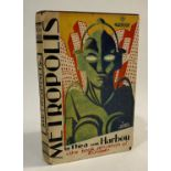 von Harbou, Thea. Metropolis, first edition in English, with the title omitted for the list of books