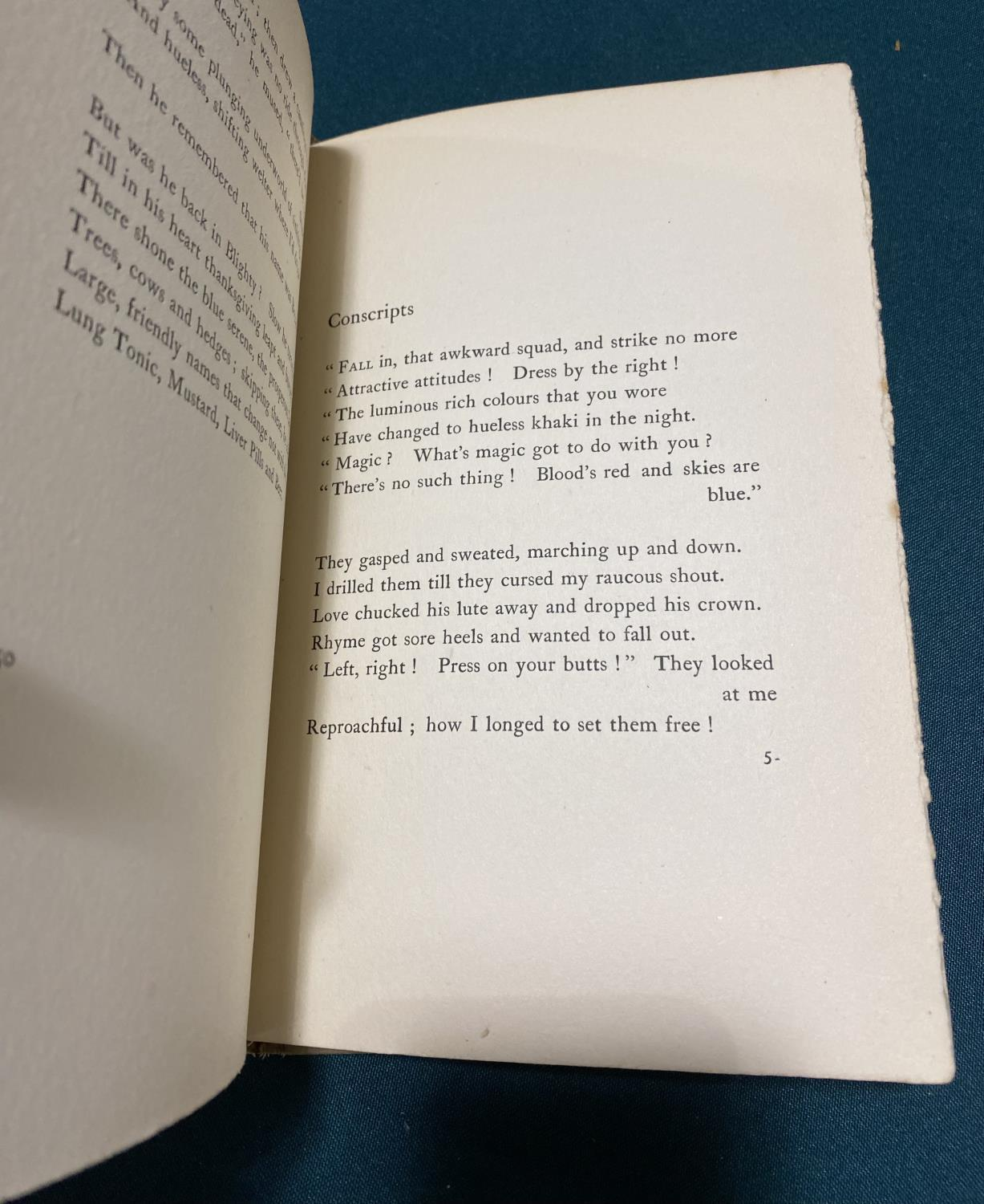 Sassoon, Siegfried. The Old Huntsman And other Poems, first English edition, inscribed on half - Image 4 of 5
