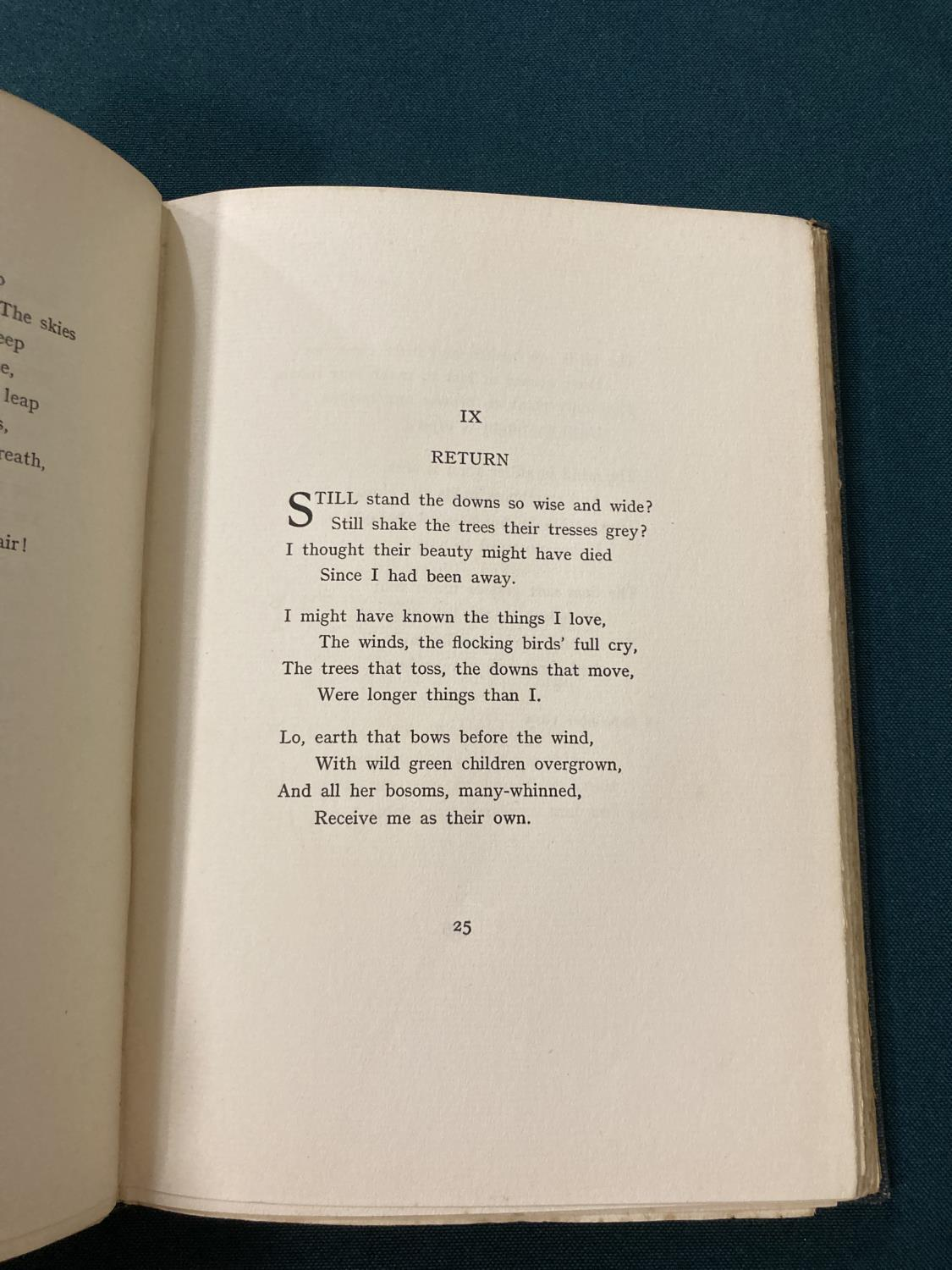 Sorley, Charles Hamilton. Marlborough and other poems, first edition, photographic portrait - Image 9 of 9