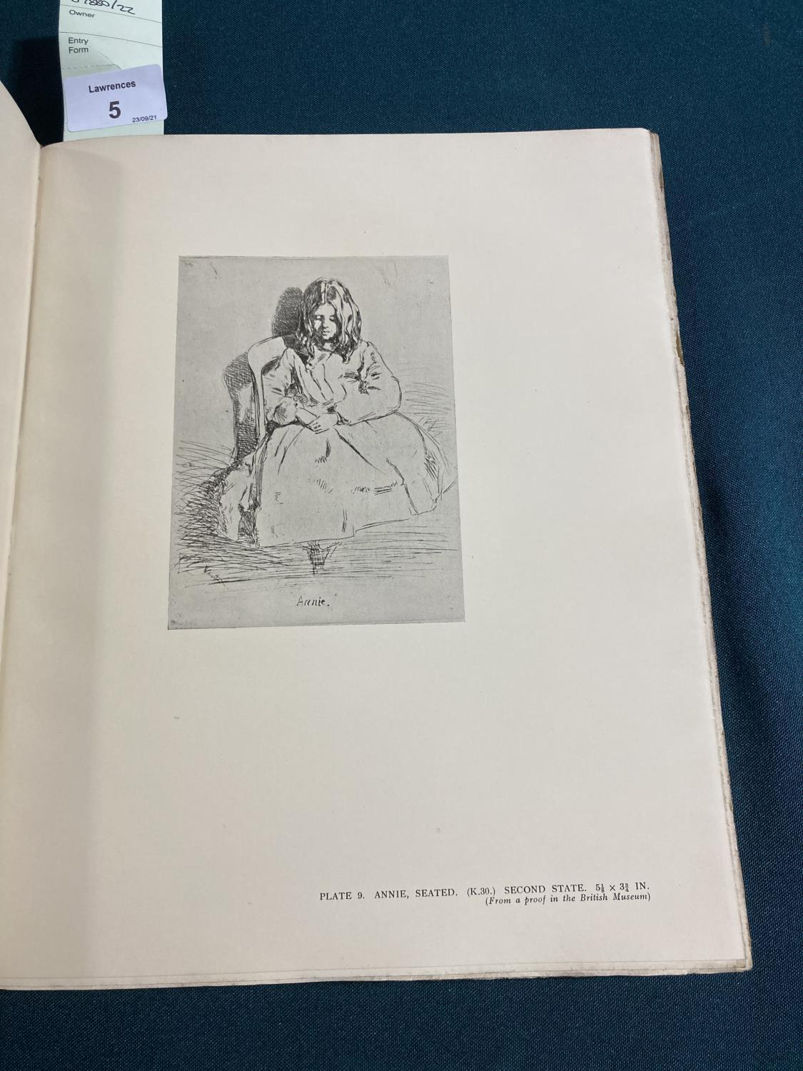 Dodgson, Cambell. The Etchings of James McNeill Whistler, plates, original vellum-backed boards, - Image 4 of 21
