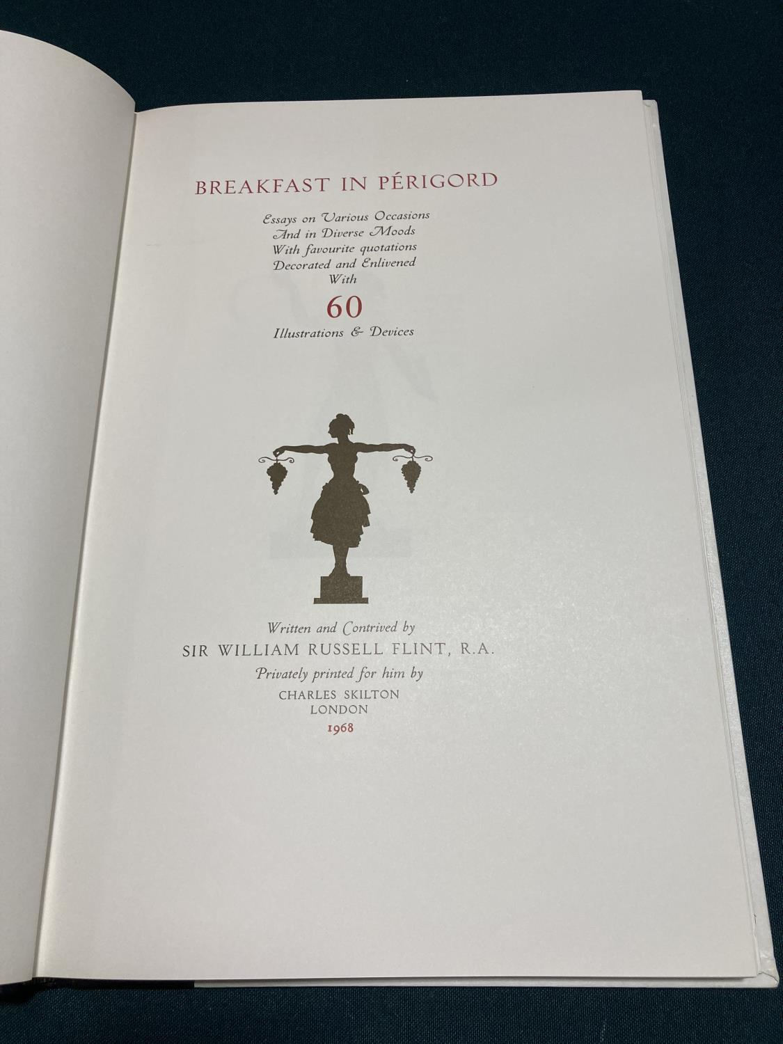 Flint, William Russell. Breakfast in Perigord, number 84 of 525 copies, signed by the artist, - Image 3 of 5