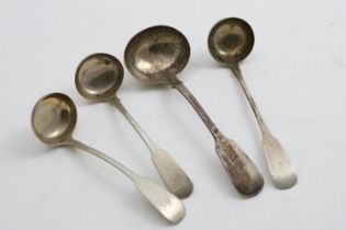 """A SCOTTISH FIDDLE PATTERN TODDY LADLE initialled """"C"""", by Robert Gray & Sons of Glasgow 1835, a"""
