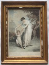 AFTER ADAM BUCK (1759-1833) MAMA AT ROMPS; THE DARLING DANCING A pair, colour stipple engravings