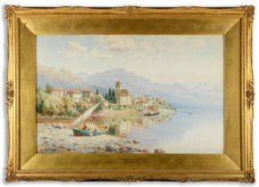 HENRY BOWSER WIMBUSH (1858-1943) BRISSAGO, LAKE MAGGIORE; A VILLAGE ON THE ITALIAN LAKES Two, both