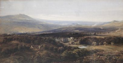 BERNARD WALTER EVANS (1848-1922) BOLTON ABBEY AND WHARFEDALE, YORKSHIRE Signed, watercolour 39 x