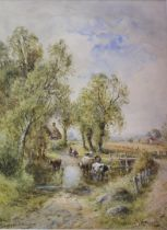 HENRY JOHN KINNAIRD (1861-1929) VIEW NEAR GILLINGHAM, DORSET Signed, inscribed with title,