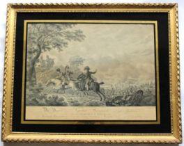 AFTER J** KAMPHUYZEN (Fl.c.1815) (SCENES AT WATERLOO) A pair, stipple engravings by D. Sluyter,