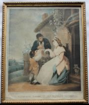AFTER HENRY SINGLETON (1766-1839) THE MARKET GIRL; THE WANDERING SAILOR A pair, mezzotints with hand