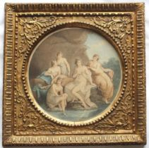 A GROUP OF SIX DECORATIVE ENGRAVINGS comprising stipple engravings after Kauffmann, Cipriani,