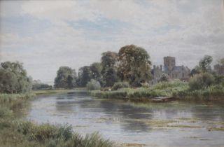 HARRY SUTTON PALMER (1854-1933) ST CROSS, NEAR WINCHESTER Signed, watercolour 34.5 x 52cm. ++ A