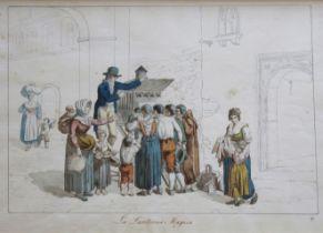 BARTOLOMEO PINELLI (1781-1835) LA LANTERNA MAGICA Titled in lower margin, watercolour and pencil