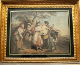 AFTER HENRY SINGLETON (1766-1839) GIPSEY'S STEALING A CHILD [sic] Coloured mezotint by F. Green,