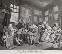AFTER WILLIAM HOGARTH (1697-1764) MARRIAGE A-LA-MODE, Plate 1 Engraving, by G. Scotin, published