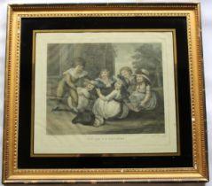 AFTER WILLIAM HAMILTON, RA (1751-1801) JEU DE LA SAVATTE; LA MAIN CHAUDE A pair, coloured stipple