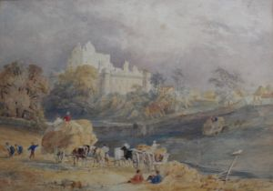 A FOLIO OF WATERCOLOURS comprising works by followers of John Sell Cotman (Goodrich Castle),