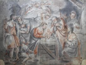 A FOLIO OF OLD MASTER DRAWINGS mixed schools, to include The Sacrifice of Isaac, Angel appearing