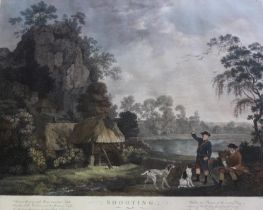 AFTER GEORGE STUBBS, ARA (1724-1806) SHOOTING The set of four, engravings with hand colouring, by W.