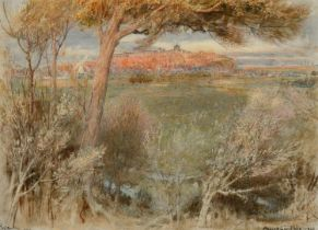 ALBERT GOODWIN, RWS (1845-1932) RYE Signed, inscribed with title and dated 1900, watercolour with