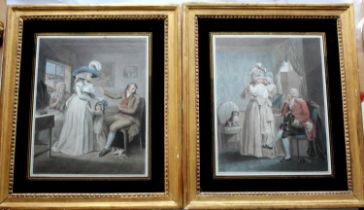 AFTER GEORGE MORLAND (1763-1804) THE VIRTUOUS PARENT; DRESSING FOR THE MASQUERADE (`LAETITIA`