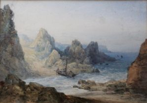 WILLIAM CALLOW, RWS (1812-1908) ON THE GALWAY COAST, IRELAND Signed, also signed and inscribed