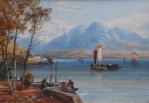 JAMES BURRELL SMITH (1822-1897) ON LAKE COMO, ITALY; AT BINGEN ON THE RHINE; KILCHURN, NEAR LOCH