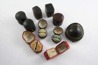 THIRTY TWO ANTIQUE RING BOXES