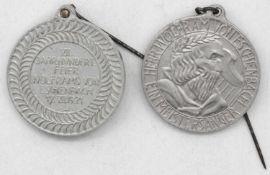 """Zwei alte Orden """"7. Jahrhundertfeier Wolframs von Eschenbach 17. VII. 1921. Aluminium.Two old medal"""
