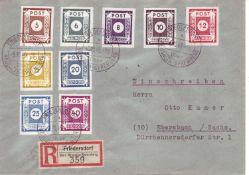 SBZ Ostsachsen 1945, R - Brief von Friedersdorf über Neusalza-Spremberg nach Ebersbach/Sachsen, mi