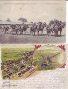 """Deutsches Reich, 1. WK, zwei AK zum Thema """"Lagerleben"""". Gelaufen.German Empire, WW1, two AK on the"""