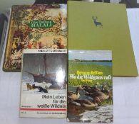 Lot Bücher zum Thema Jagd, dabei Wo die Wildgans ruft, Mein Leben für die weiße Wildnis, Das gro