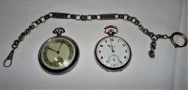 Bastlerlot Taschenuhren, dabei 1 Favor, 1x Foreign, sowie 1 Uhrenkette.Handicraftsman's pocket watc