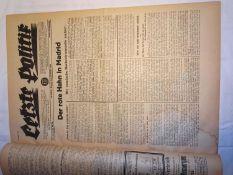 """Zeitungslot """"Letzte Politik"""", 10.Jahrgang, Nr.13, gebunden, 1931. Äußerst interessante Zeitungen."""