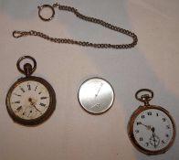 Uhren Bastlerkonvolut, Silber, insgesamt 3 Stück.Watch hobbyist group, silver, 3 pieces in total.