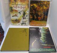 """4 Bücher zum Thema Jagd, dabei """"Auf der Jagd"""", """"Unser schöner Wald"""", """"Waldgeheimnis"""", """"Begegnung"""
