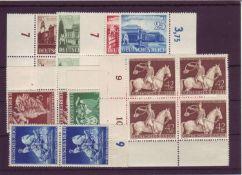 Drittes Reich, Mi. - Nr. 764/67, Paare, Randstücke, Mi. - Nr. 768/71, Paare, Randstücke, Mi - Nr.