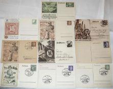 10 Ganzsachen Deutsches Reich / Ostland / Ukraine / Reichsparteitag.10 postal stationery German Rei