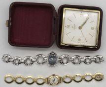 Konvolut Damen - Armbanduhren, dabei Junghans, 17 Jewels und eine Predial Swiss Made. Beide mechani