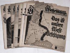 """10 Zeitschriften """"Die Wehrmacht"""" von 1938 - 1942. Dabei Marsch nach Bulgarien, Front Griechenland,"""