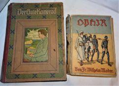 2 Bücher OPHIR von Friedrich Wilhelm Marder und Der gute Kamerad 34.Folge. Beide mit Gebrauchsspur
