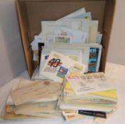 Lot Belege und Tütenposten alle Welt, dabei viele Türkeibriefe, 50er Jahre, etc. 1 Schuhkarton vo