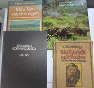 Lot Bücher zum Thema Jagd, dabei 100x Tierwanderungen, Mit Blitzlicht und Büchse, etc.Lot of book