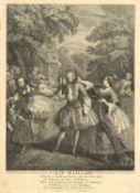 """Du Roy """"Colin-Maillard"""" (Blinde Kuh), altes Blatt. Blattmaße: Breite ca. 21 cm, Höhe ca. 29 cmDu"""