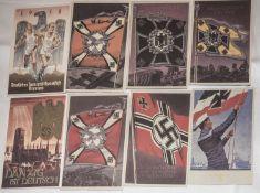 13 Propagandakarten, 3. Reich. Nachdrucke.13 propaganda cards, 3rd Reich. Reprints.