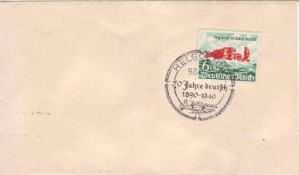 Drittes Reich 1940, Mi. - Nr. 750 auf Beleg mit Ersttagsstempel 9.8.40. Geprüft BPP Schlegel.Thir
